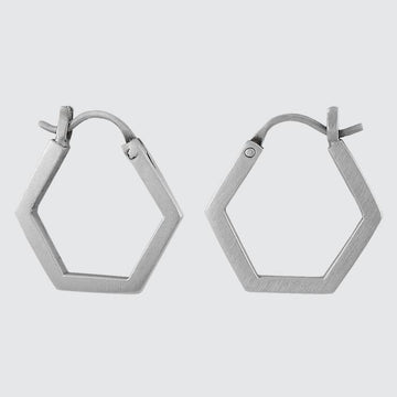 Hexagonal Hoop Earring