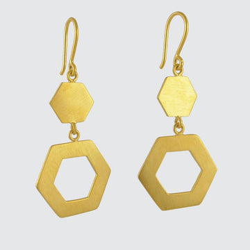 Hexagonal Drop Earrings