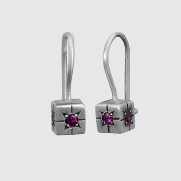 Tiny Cube Drop Earring