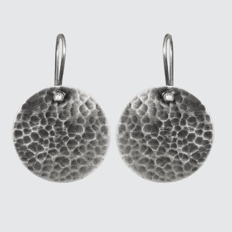 Large Hammered Disc Drops