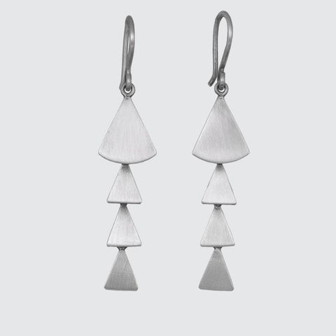 Long Fan Cascade Earrings