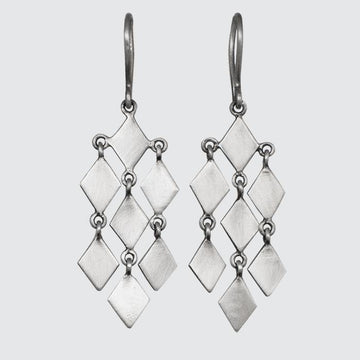 Diamond Shaped Chandelier Earrings