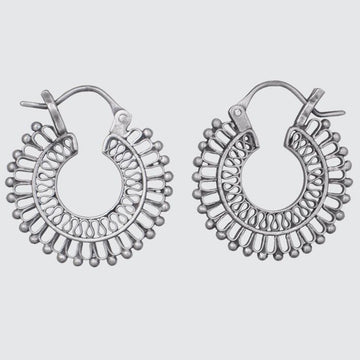 Small Filigree Hoop Earrings