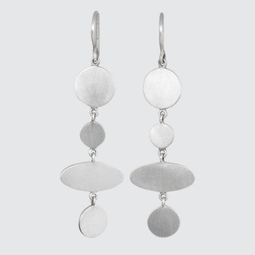Disc and Ellipse Dangle Earrings