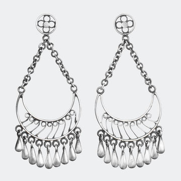 Half Moon Filigree Chandelier Earrings