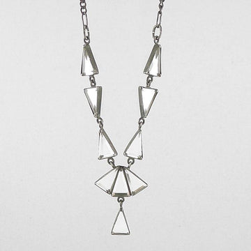 Triangle Mirror Art Deco Necklace