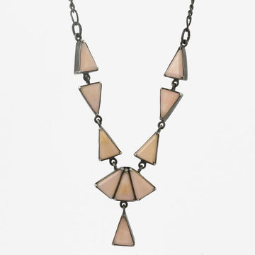Triangle Stone Art Deco Necklace