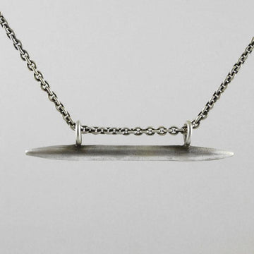 Tapered Bar Amulet Necklace
