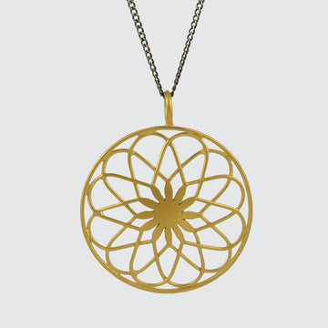 Small filigree Spirograph pendant Necklace