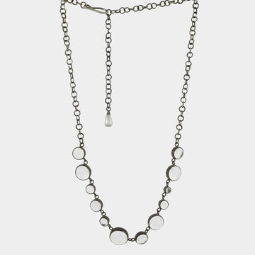 Cabochon Stone Linked Chain necklace
