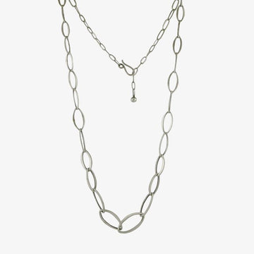 Graduated Leaf Shape Chain Necklace
