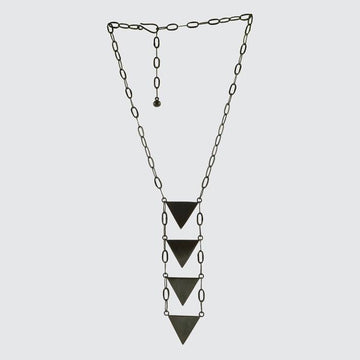 Four Triangle Drop Necklace