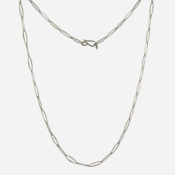 Delicate Artisan Oval Link Chain Necklace