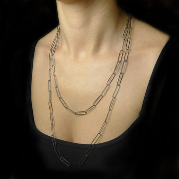 Paper Clip Handmade Chain Necklace