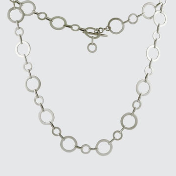 Circle Link Necklace with Toggle Clasp