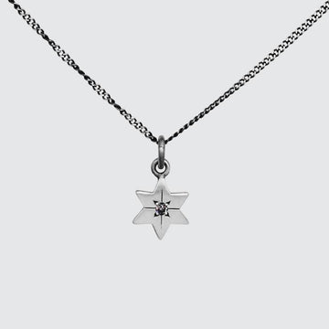 Six Pointed Star Necklace with Star Set Diamond