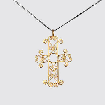 Filigree Cross Pendant Necklace