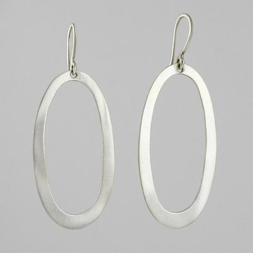 Large Oval Drop Earrings
