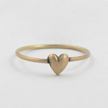 Sweet little sweetheart stacking ring