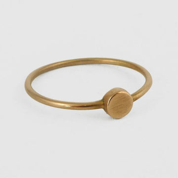 Tiny Disc Stacking Ring in Gold