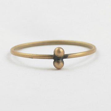 Two ball granulated stacking ring