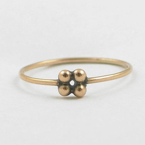 Four Ball granulated stacking ring