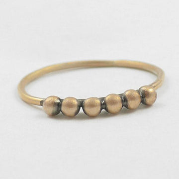 Six Ball Granulated Stacking Ring