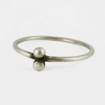 Two Ball Granulated Ring