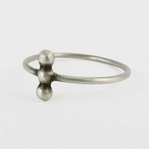 Three Ball Granulated Ring