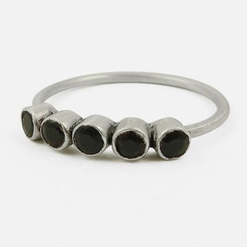 Five Faceted Stone Stacking Ring