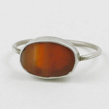 Oval Cabochon Stacking Ring