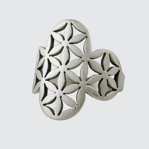 Flower of Life Cut Out ring 1