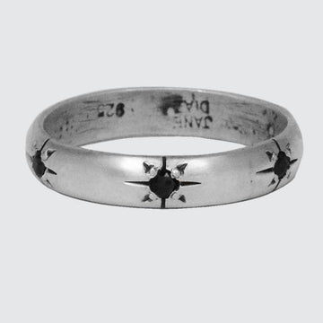 Half Round Band with Six Star Set Stones