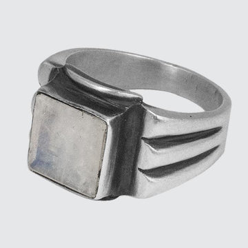 Faceted Stone Deco Ring