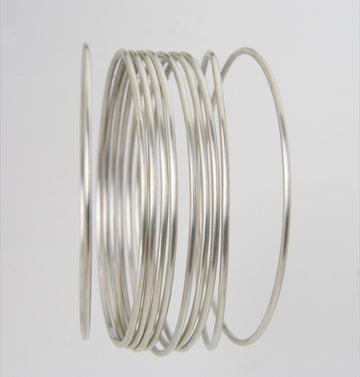 Round Wire Bangle Set