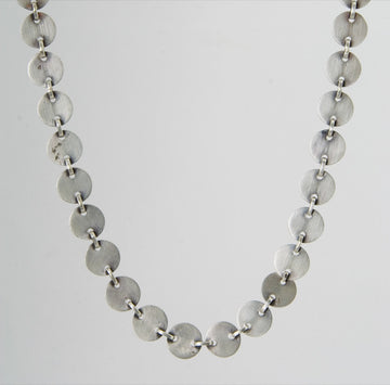 Handmade Disc Chain Necklace
