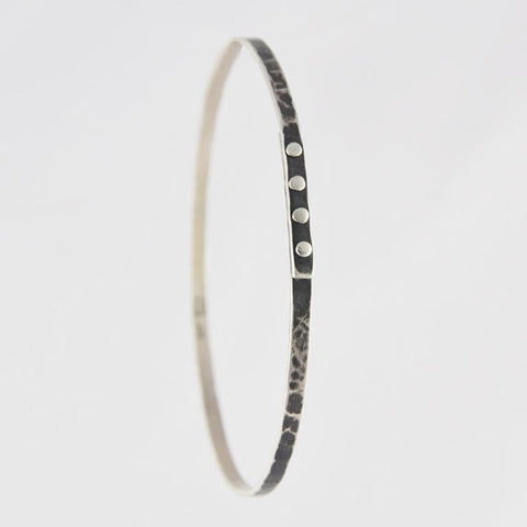 Hammered Bangle with Rivets
