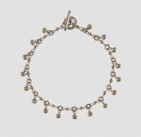 Ball Chain Bracelet with Dangling Ball Charms