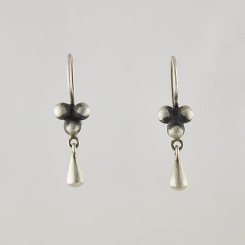 Ball Cluster Drop with Teardrop Dangle Earrings