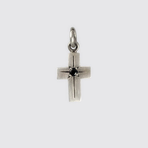 Tiny Cross Charms With Star Set Stone
