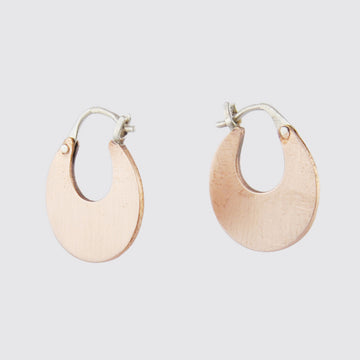 Flat Crescent Hoop Earrings
