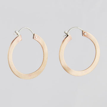 Satin Finish Hoop Earrings