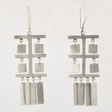Tibetan Prayer Flag Dangle Earrings