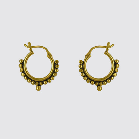 Small Granulated Hoop Earrings