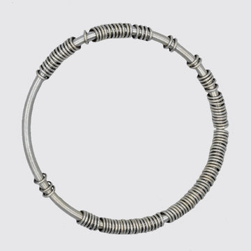 3MM Wire Bangle  With Rings
