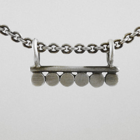 Bar Amulet Necklace with Six Discs