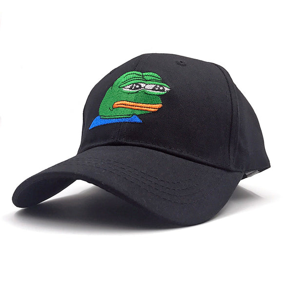 Black Sad Pepe Baseball Cap