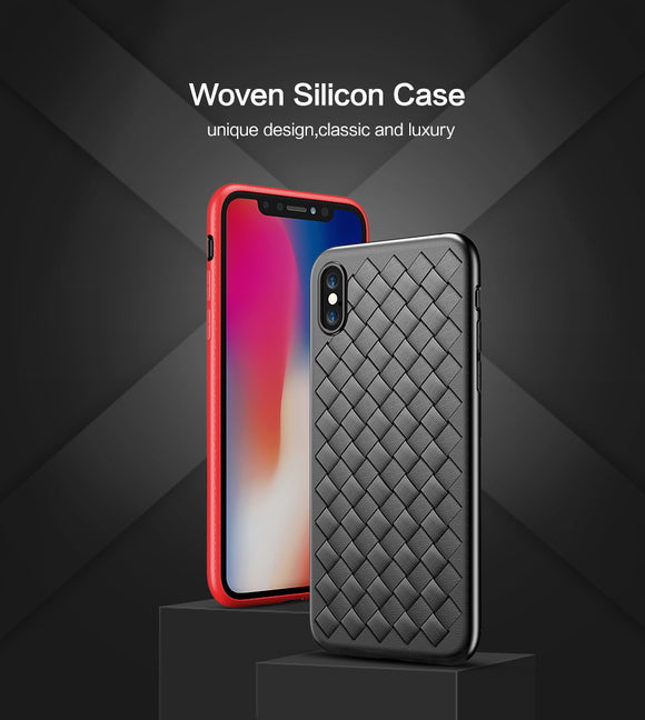 Luxury Grid Weaving iPhone Cases