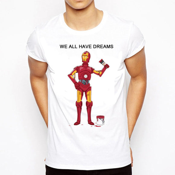 We All Have Dreams Printed T-Shirt