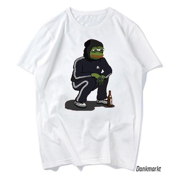 Sad Pepe In Jogger T-shirt